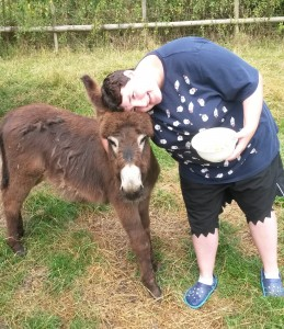Collen with Donkey